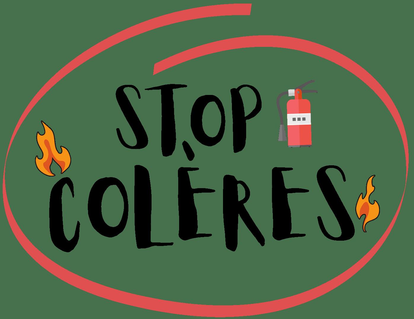 logo stop colères rouge et grand